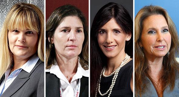מימין: שרי אריסון, אפרת פלד, אורנה אנג'ל ורוית ברניב