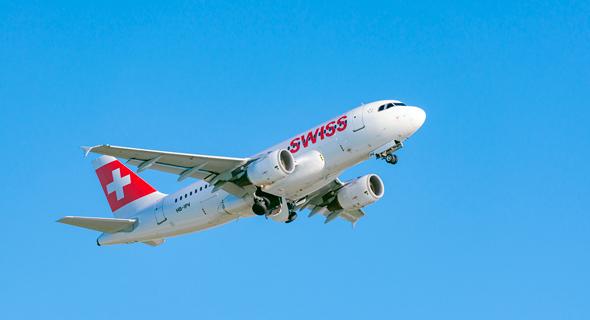 מטוס של חברת התעופה סוויס אייר, צילום: גטי אימג