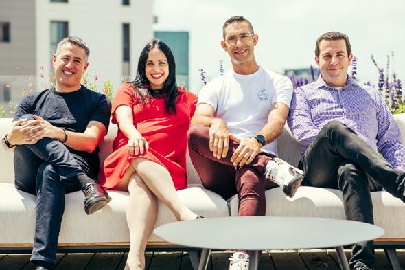 AnD Ventures partners Roy Geva Glasberg (left), Lee Moser, Kfir Kachlon, and Ariel Cohen. Photo: AnD Ventures