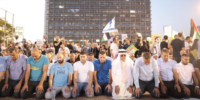 הפגנה של ערביי שיראל בכיכר רבין (ארכיון), צילום: טל שחר