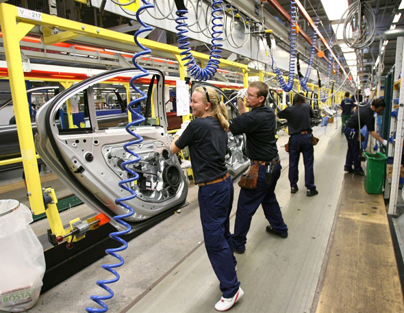 מפעל מכוניות וולוו בשבדיה