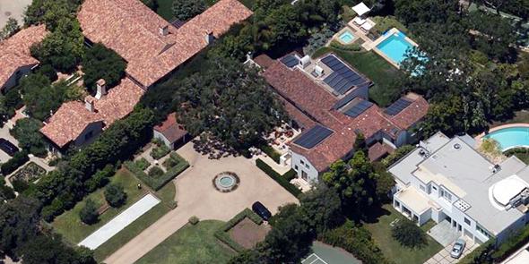 האחוזה בסנטה מוניקה, צילום: Bing