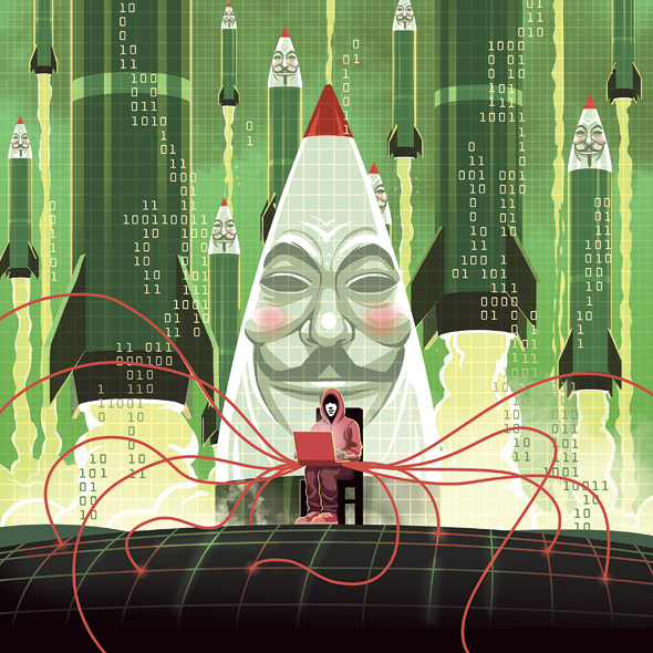 Cyberattacks have increased during the pandemic but Israeli cybersecurity companies are retaining the edge in the market. Illustration: Danielle Goldfarb