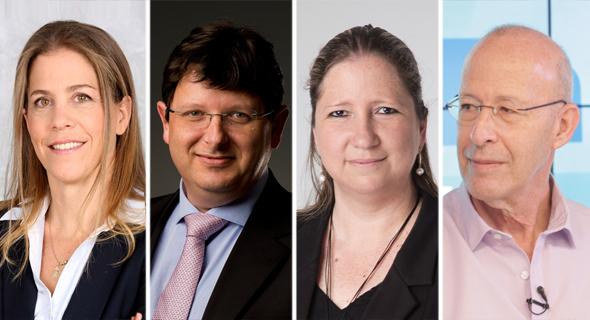 מימין: אבישי זילברשץ, אילנית אדסמן נבון, אמיל וינשל ואורנה קרני