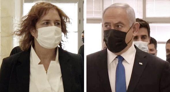 נתניהו ובן ארי בבית המשפט, אתמול