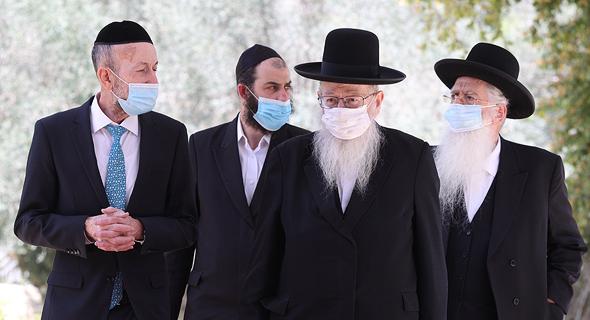 נציגי יהדות התורה מגיעים לנשיא, צילום: עמית שאבי