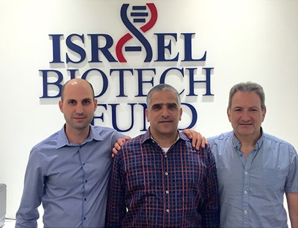 Israel Biotech Fund founders Dr. David Sidransky (from right), Ido Zairi and Dr. Yuval Cabilly. Photo: Courtesy