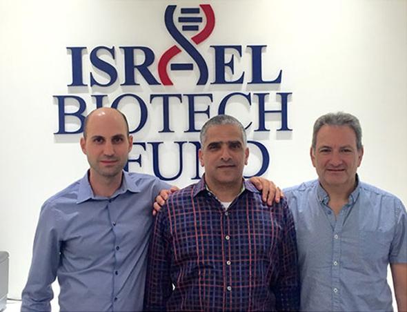 """מימין: ד""""ר דוד סידרנסקי, עידו צאירי וד""""ר יובל קבילי. קרן השקעות Israel Biotech Fund"""