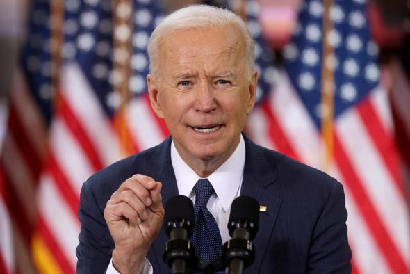 """נשיא ארה""""ב ביידן, דוח התעסוקה שפורסם נחשב למבחן הראשון בתוכנית התמריצים של ממשלו"""