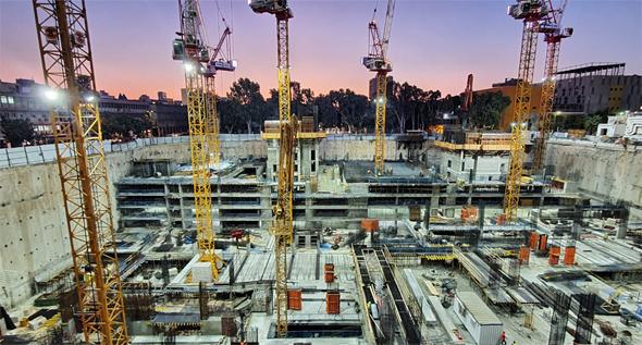אתר הבנייה בשרונה