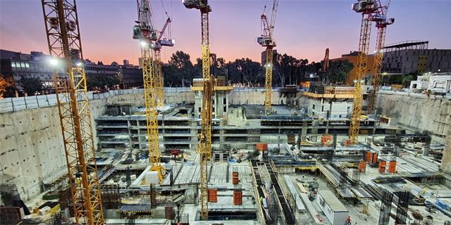 אתר הבנייה בשרונה, צילום: באדיבות מליסרון
