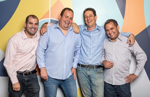 WSC Sports Founders, Aviv Arnon, Hy Gal, Daniel Shichman, Shmulik Yoffe. Photo: WSC Sports