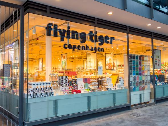 """חנות פליינג טייגר בלונדון. החברה סגרה את כל החנויות בארה""""ב בעקבות משבר הקורונה"""