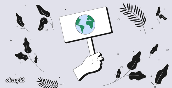 Climate change is a hot topic for young people. Photo: OkCupid