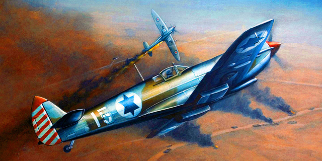 ציור ספיטפייר ישראלי בקרב