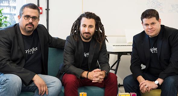 מייסדי Tripledot. מימין: ליאור שיף, אייל חמידס ואקין בבייגית