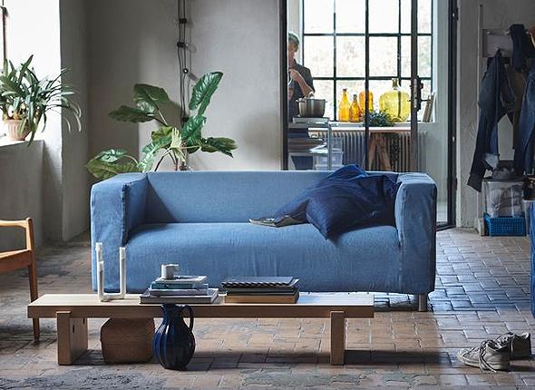 איקאה ספה ג'ינס ממוחזר, צילום: איקאה