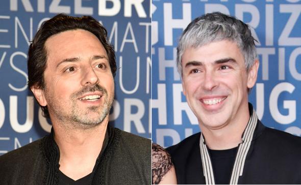 מימין: לארי פייג' וסרגיי ברין, מייסדי גוגל