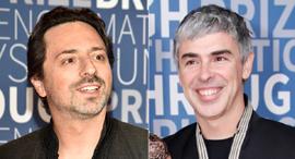 מימין: לארי פייג' וסרגיי ברין, מייסדי גוגל , צילום: גטי