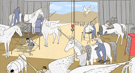Israel has become a unicorn assembly line. Illustration: Yizhar Cohen