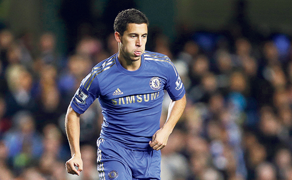 Eden Hazard wearing his Chelsae FC kit. Photo: AP