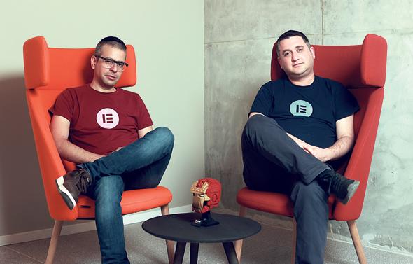 Elementor co-founders Yoni Luksenberg and Ariel Klikstein. Photo: Amit Shaal