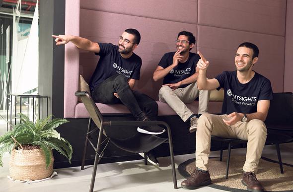 מימין: אלון ארבץ, גיא ניצן וגל בן דוד, מייסדי אינטסייטס