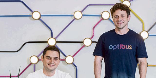 Optibus co-founders Amos Haggiag (left) and Eitan Yanovsky. Photo: Yuval Chen