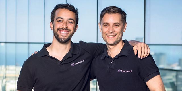 ImmunAI co-founders Noam Solomon and Luis Voloch. Photo: Arik Sultan