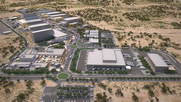 """הדמיית המרכז הלוגיסטי החדש של צה""""ל שיקום בדרום. 100 מיליון שקל הושקעו באיחוד מערכות המידע"""