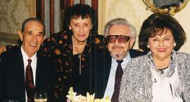 אברהם ושרה זילברשטיין והנרי וסוזי אורנשטיין , צילום: באדיבות משפחת זילברשטין