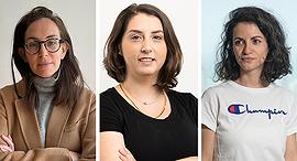 (Left to right) Dafna Baraket, Matana Soreff, and Lena Loiberg. Photo: Melio/Yarden Man