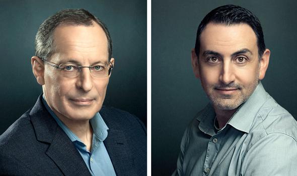 Professor Eugene Kandel (left) and Uri Gabai. Photo: Miri Davidovitz