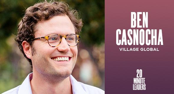 Ben Casnocha, co-founder and partner of Village Global. Photo: Benedict Casnocha