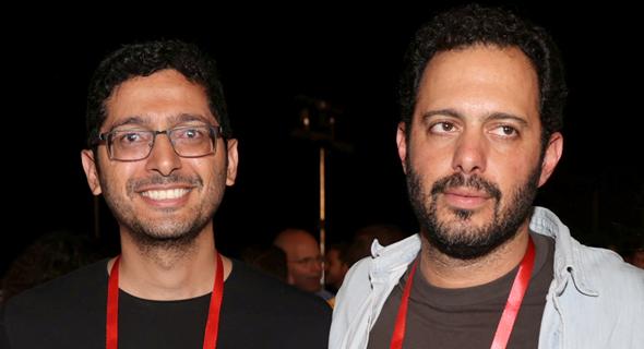 מימין גל שאול Augury וגיא ניצן מ-Intsights , צילום: אוראל כהן