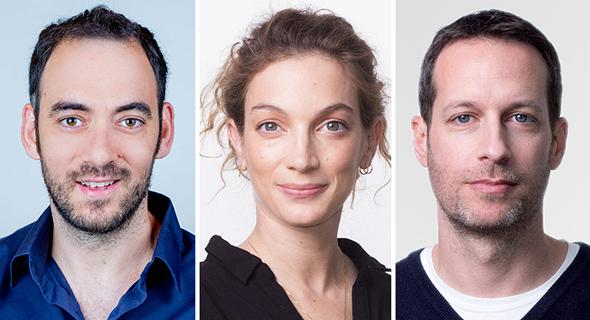 מימין ליאור נוי אורית שילה ו אורן לפקוביץ Google ישראל שבוע גוגל