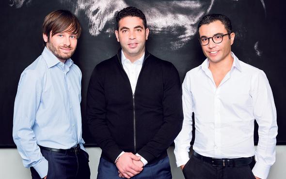 Pagaya co-founders CTO Avital Pardo (from right), CRO Yahav Yulzari and CEO Gal Krubiner. Photo: Inbal Marmari