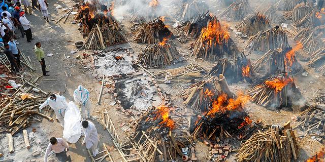 הודו: שיא מתים יומי מקורונה - 4,187 בני אדם