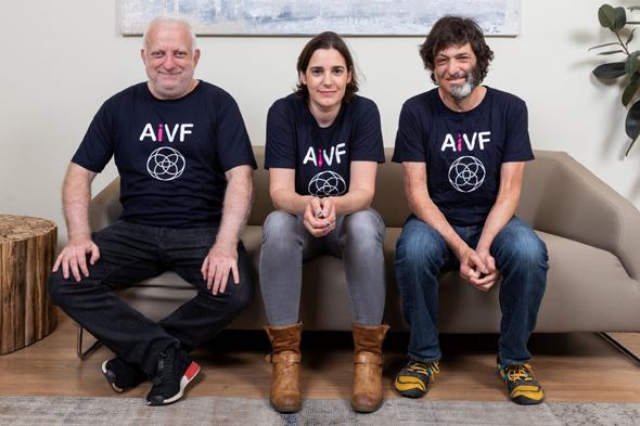 Daniel Seidman, Daniella Gilboa, and Dan Ariely. Photo Eyal Toueg