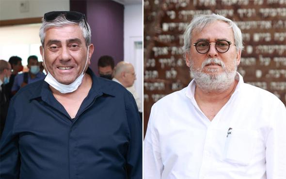 מימין נחום ביתן יגאל ו דמרי דיון יינות ביתן בית משפט מחוזי, צילום: עמית שעל