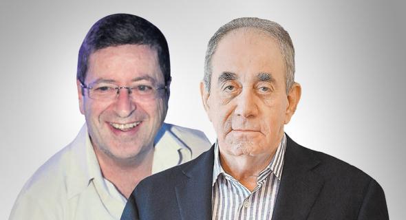 מימין: אלפרד אקירוב ו מורי ארקין, צילומים: עטא עוויסאת, אוראל כהן