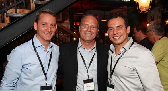 Arik Kol, Sr. Director, NVIDIA Inception Startup Program Lead in Israel;  Eitan Kyiet, CEO of Road2; Amit Krig, SVP software at NVIDIA. Photo: Fabian Koldorf