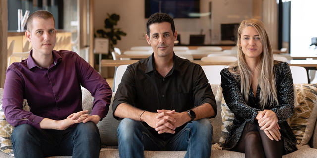 The Microsoft for StartUps Team, Meital Shamia, Raz Bachar, and Amit Svarzenberg. Photo: Microsoft
