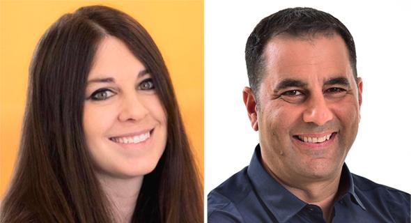 Shlomi Ben Haim, JFrog's CEO (right) and Iris Shoor, Oribi's CEO. Photo: Courtesy
