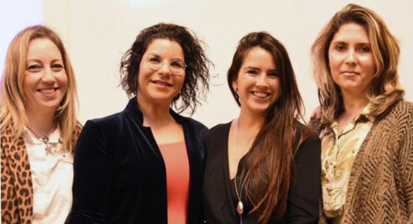 (Left to right) Keren Aviasaf, Rahav Shalom Revivo, May Michelson, and Maria Bromberg. Photo: Tal Lahav
