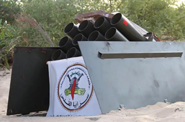 בור שיגור של חמאס, שכולל פלטפורמה נשלפת