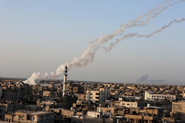 ירי חמאס לעבר ישראל