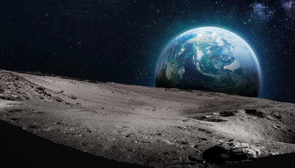 The lunar surface. Photo: Shutterstock