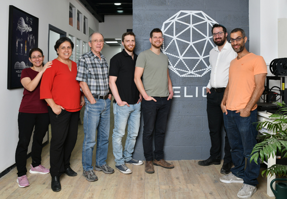 The Helios co-founders and team at their offices. Photo: Haya Gold
