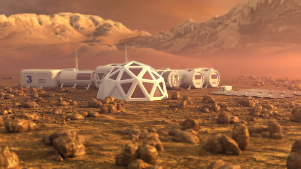 Helios hopes its technology can help build permanent settlements on the Martian surface (illustration). Photo: Shutterstock